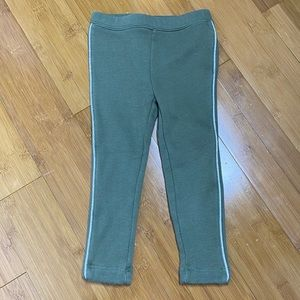 Old Navy cozy leggings silver detail olive 3T